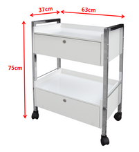 Charger l'image dans la galerie, Trolley With Double Drawer With Locks