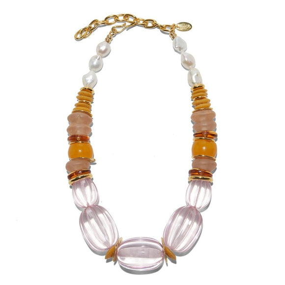 Lizzie Fortunato - Villa Necklace in Rose