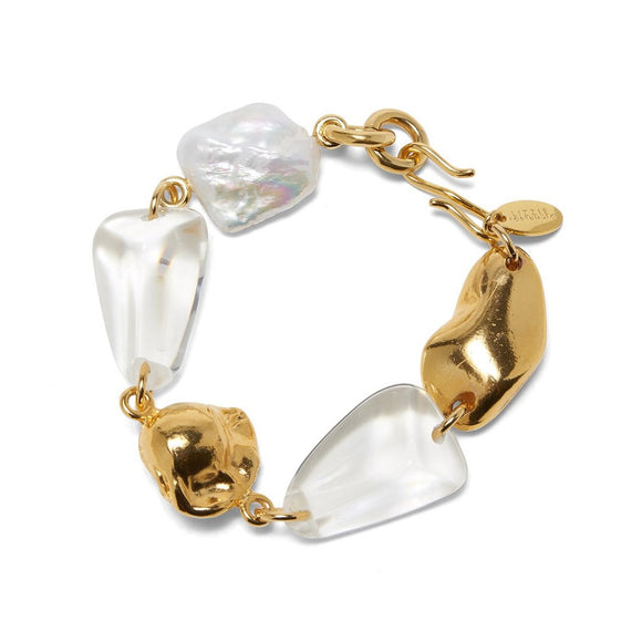 Lizzie Fortunato - Beach Stroll Bracelet in Clear
