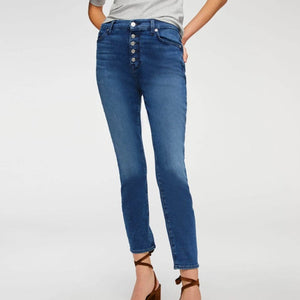 7 For All Mankind - High Waist Ankle Skinny in Peace Blue