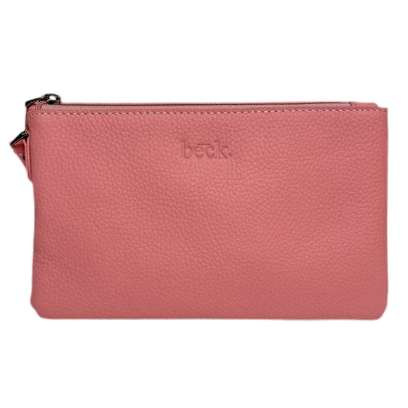Beck Bags - Ziplet Leather Bag in Blush