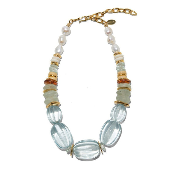 Lizzie Fortunato - Villa Necklace in Aqua