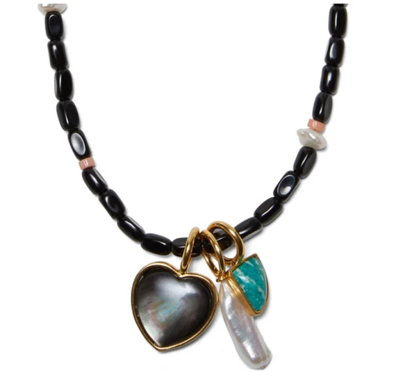 Lizzie Fortunato - Catalina Necklace in Black