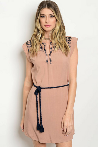 Sand Dune Embroidered Dress