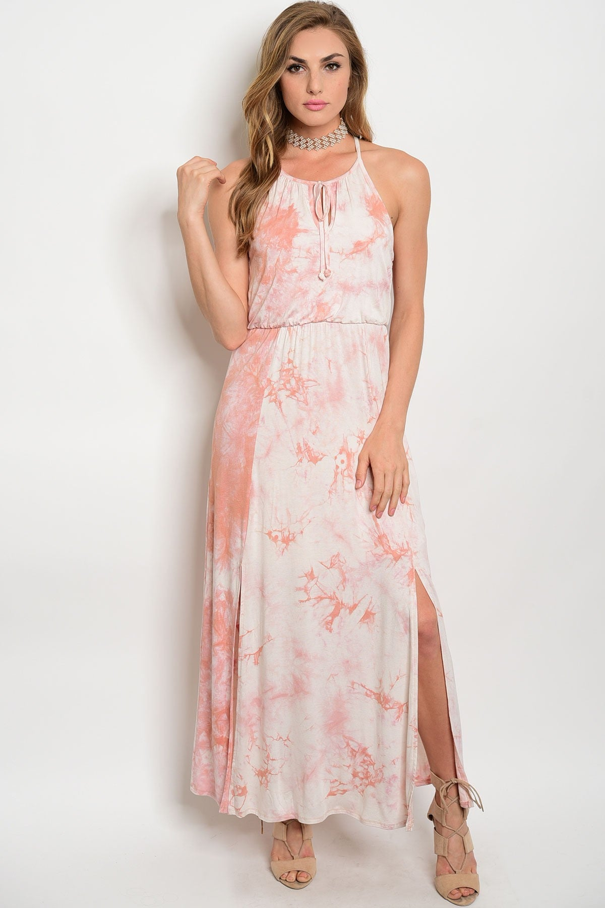 Pink Cloud Tie Dye Maxi Dress