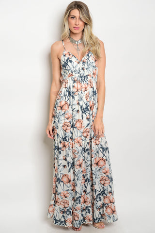 Beachfront Floral Maxi Dress