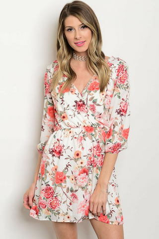 Floral and Fawn Rose Dress