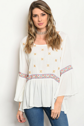 Moon River Peasant Blouse