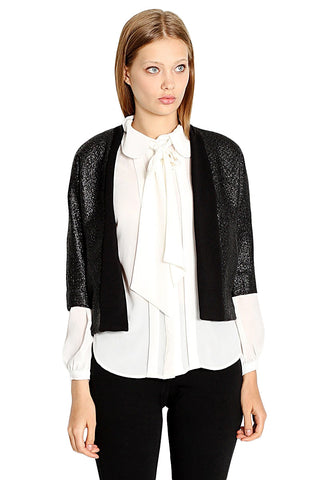 Fashion Week Black Jacket - Leather and Sequins - 1