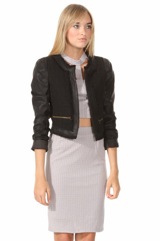 Rydell Leather Jacket - Leather and Sequins - 1