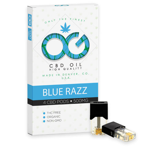 OG Labs - Blue Razz CBD Pods (Pack of 4) - CBDNSuch.us