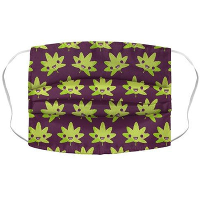 Kawaii Pot Leaf Face Mask Cover - CBDNSuch.us