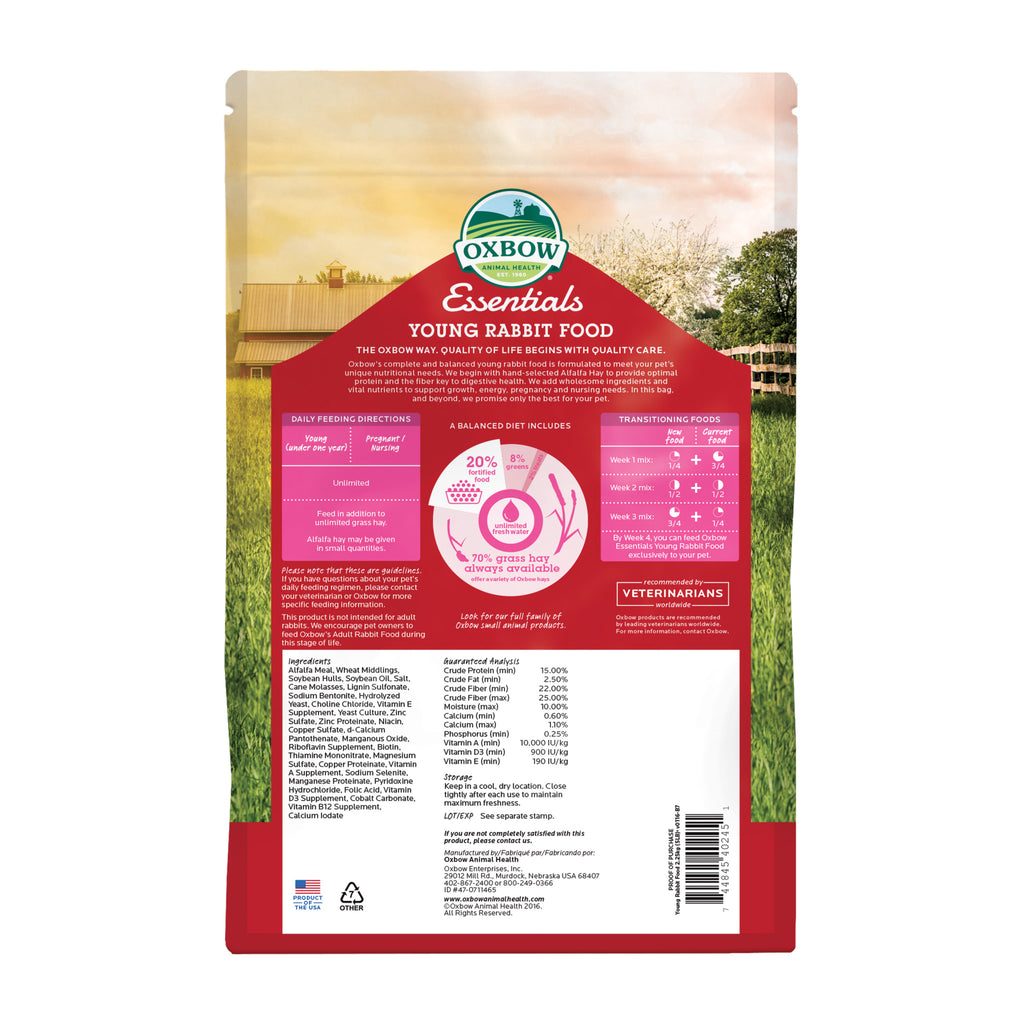 Essentials YOUNG Rabbit Food - 5 lb. - BinkyBunny.com House Rabbit Store