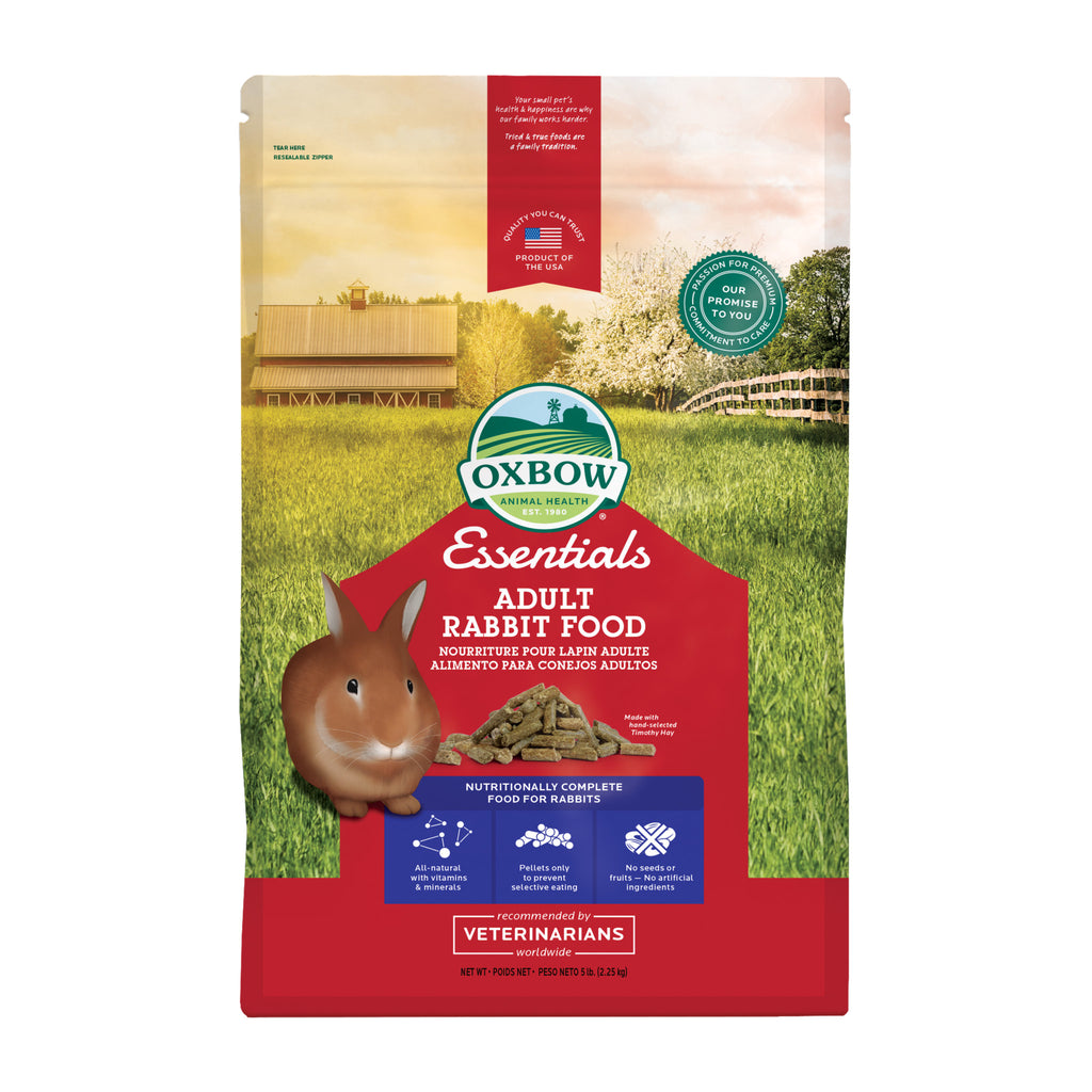 Essentials ADULT Rabbit Food - 5 & 10 lb. - BinkyBunny.com House Rabbit Store