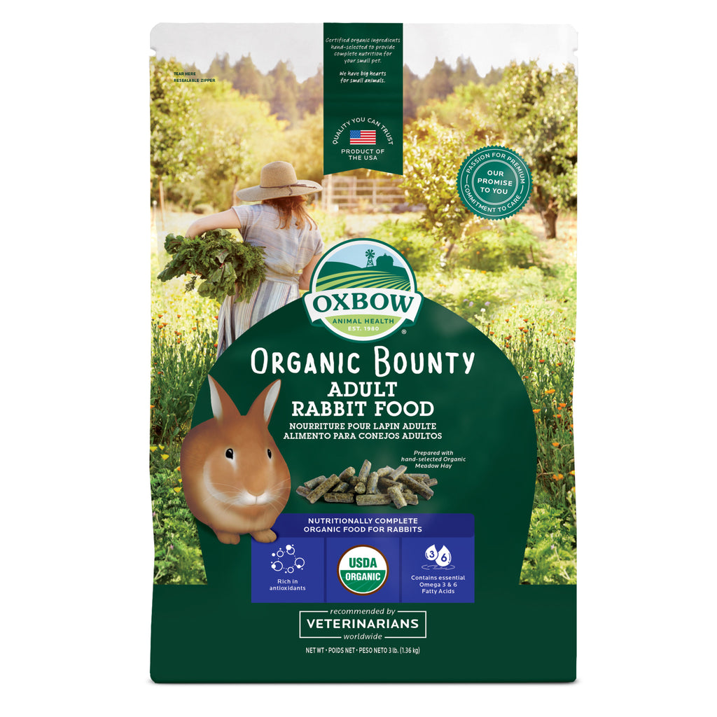 Organic Bounty ADULT Rabbit Food - 3 lb. - BinkyBunny.com House Rabbit Store