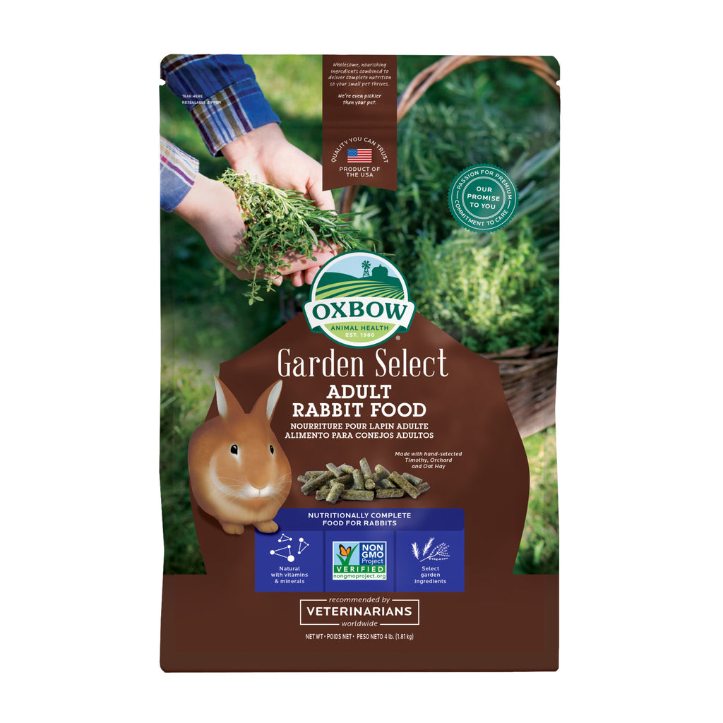 Garden Select ADULT Rabbit Food - 4 lb. - BinkyBunny.com House Rabbit Store