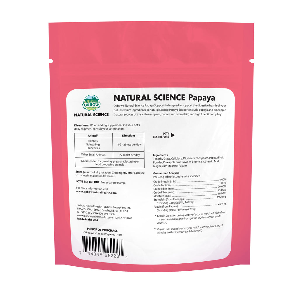 Natural Science PAPAYA Support - BinkyBunny.com House Rabbit Store
