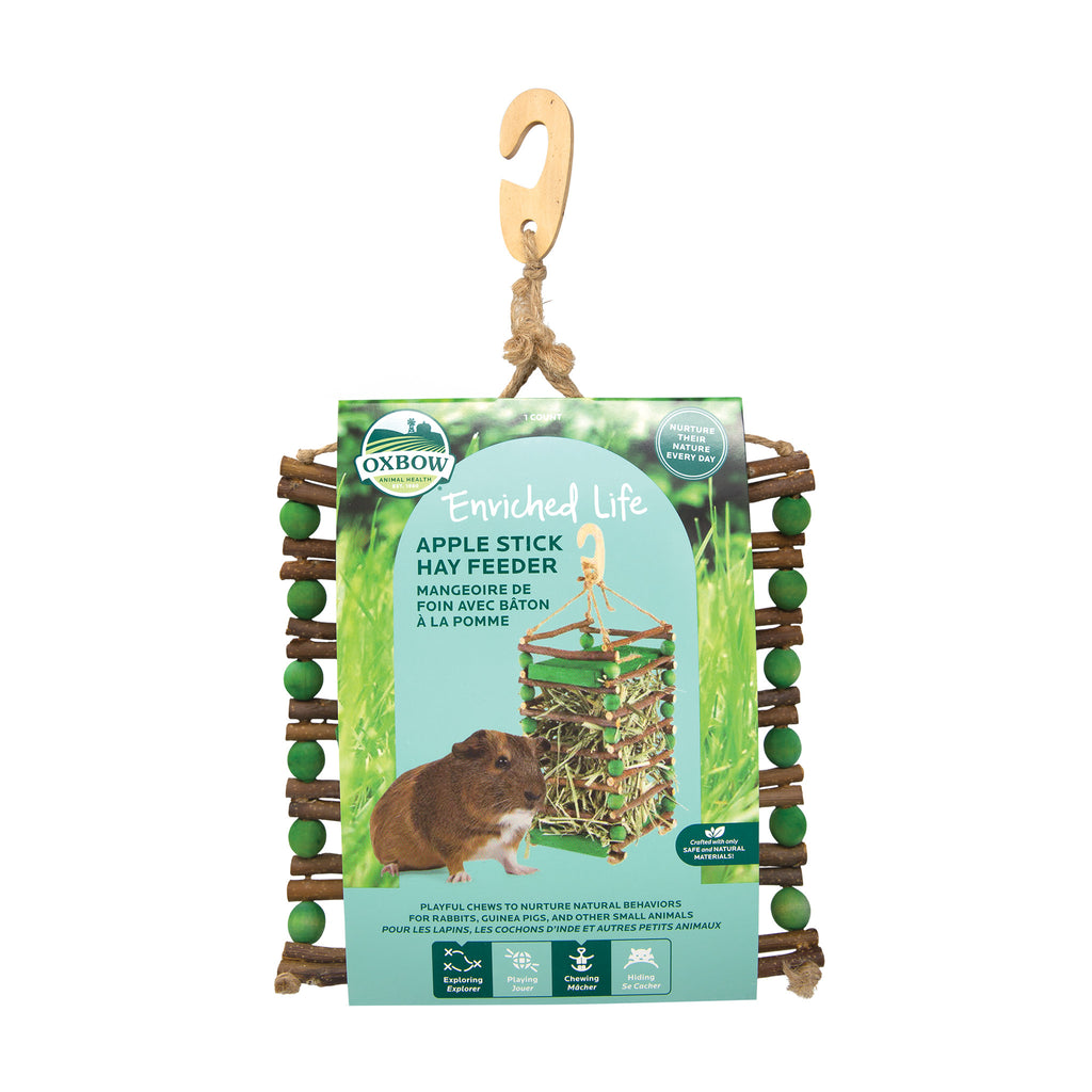 Apple Stick Hay Feeder (Enriched Life) - BinkyBunny.com House Rabbit Store