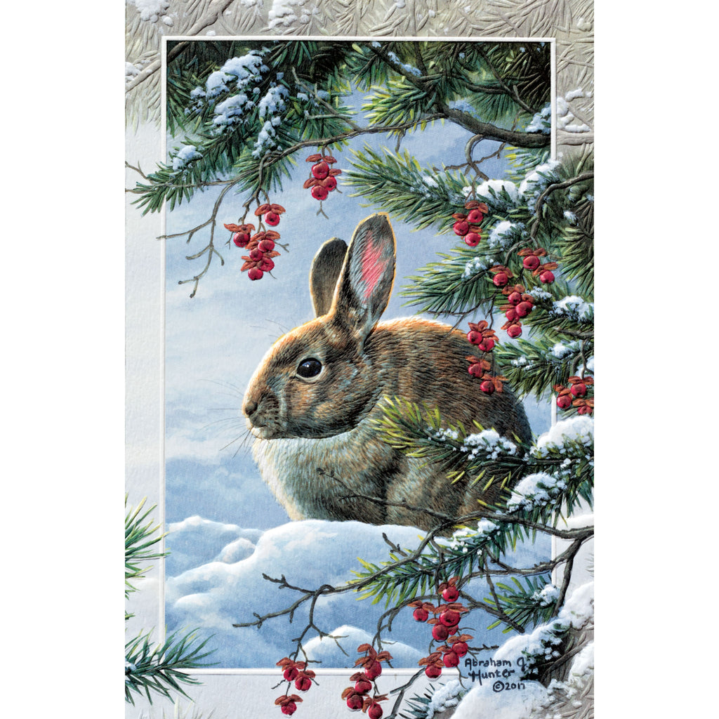 Winter Solstice Holiday Card - BinkyBunny.com House Rabbit Store