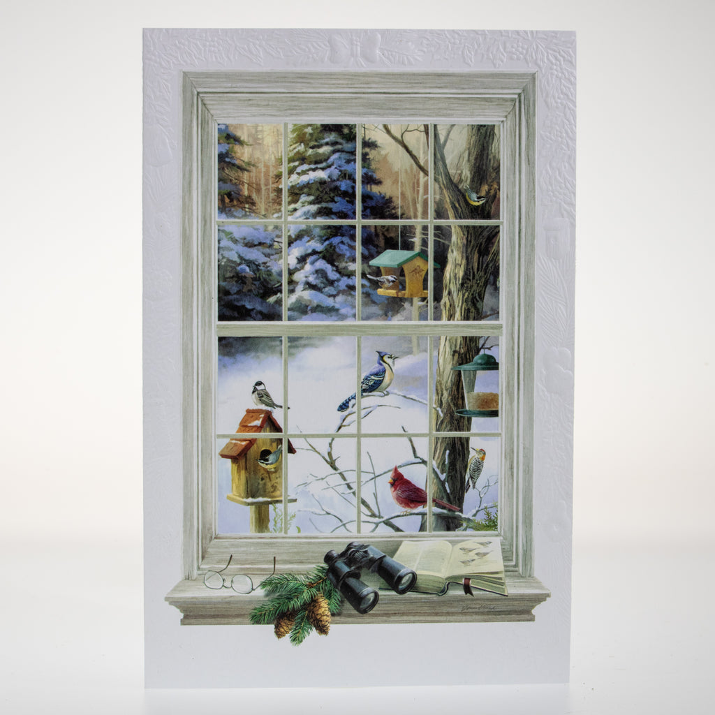 Birdwatcher's Window Card - BinkyBunny.com House Rabbit Store