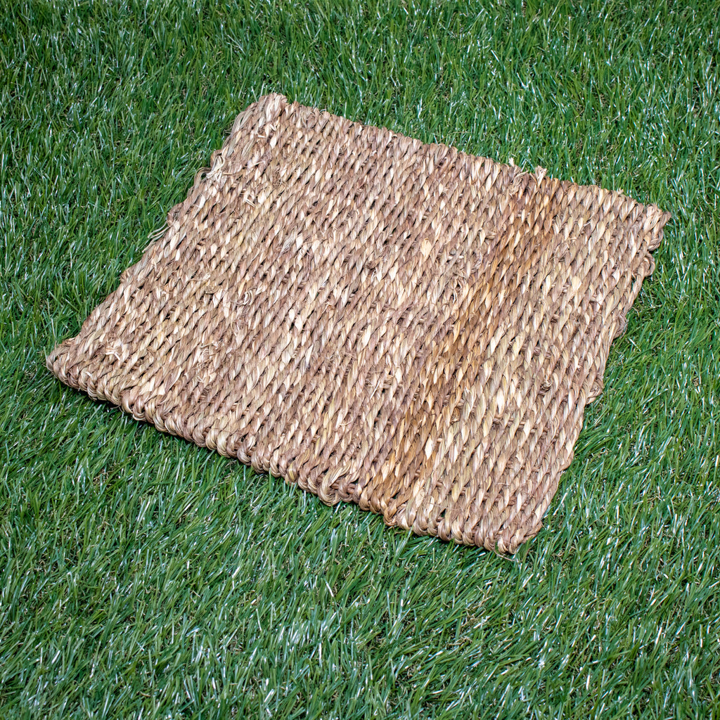 "DOUBLE Weave Sea Grass Mat SMALL [11"" x 11""] - BinkyBunny.com House Rabbit Store"