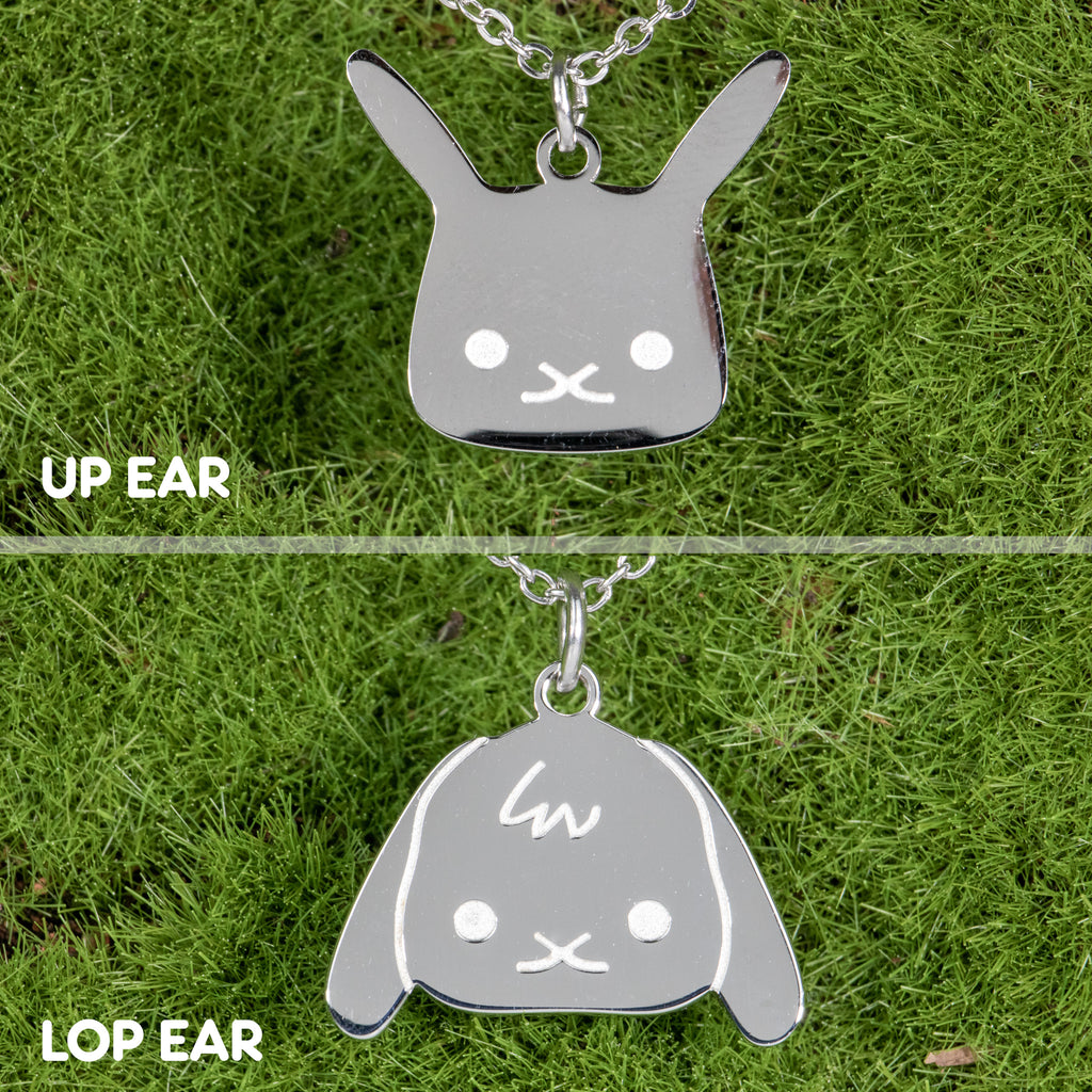 Flat Bonnie Silver Necklaces (Lop & Up Ear) - BinkyBunny.com House Rabbit Store