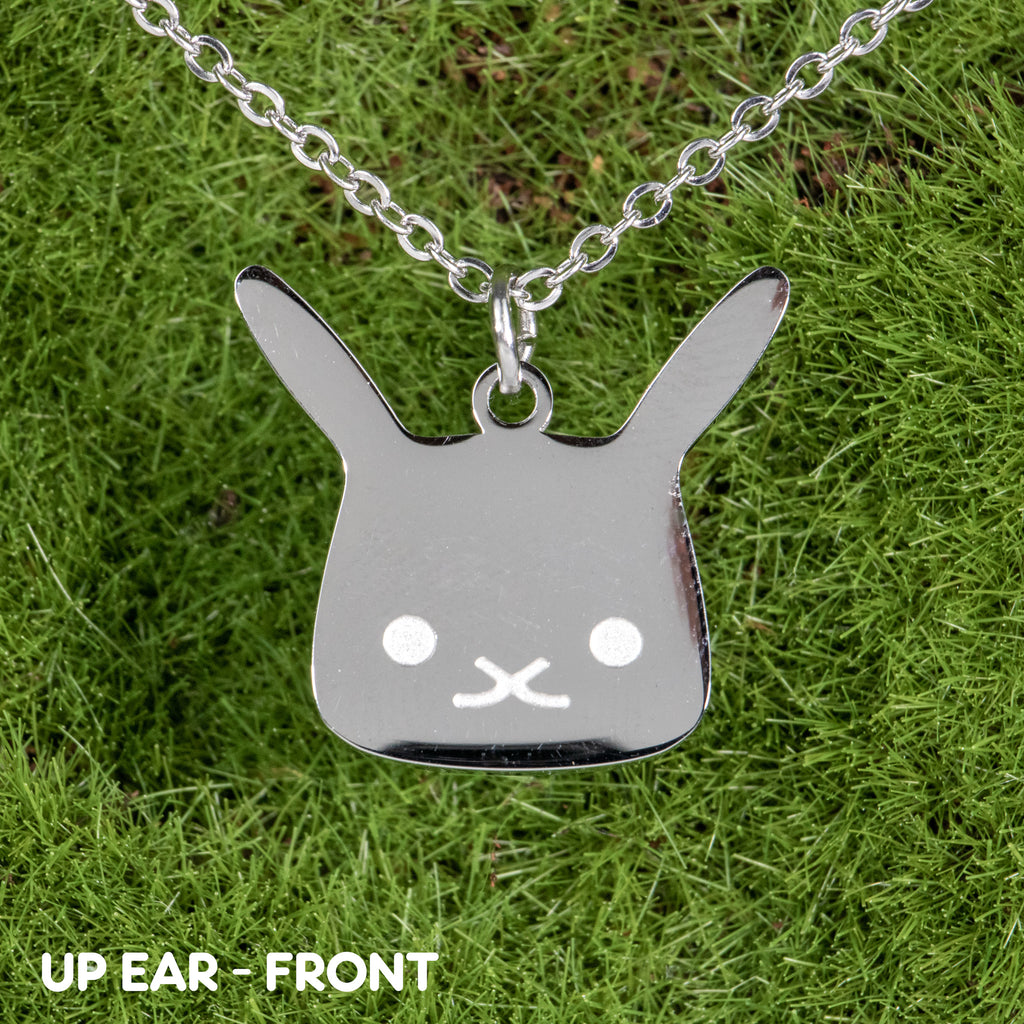 Flat Bonnie Silver Necklaces (2 Choices) - BinkyBunny.com House Rabbit Store