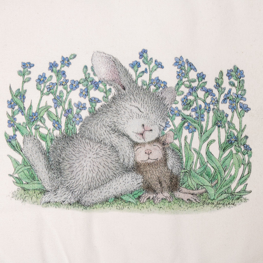Happy Hoppers Tote Bag - Snuggle Bun - BinkyBunny.com House Rabbit Store