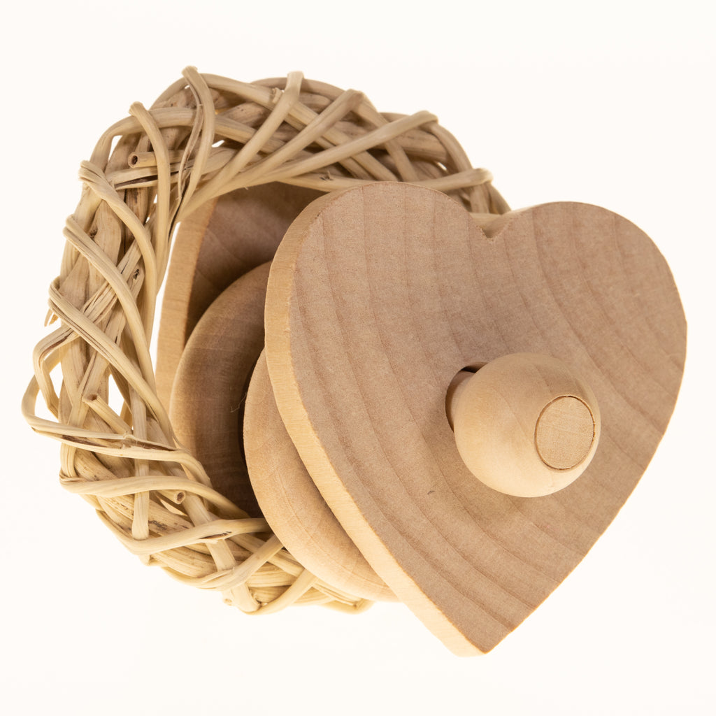 Heart WILLOW RING Rattle (NEW Peeled Willow) - BinkyBunny.com House Rabbit Store