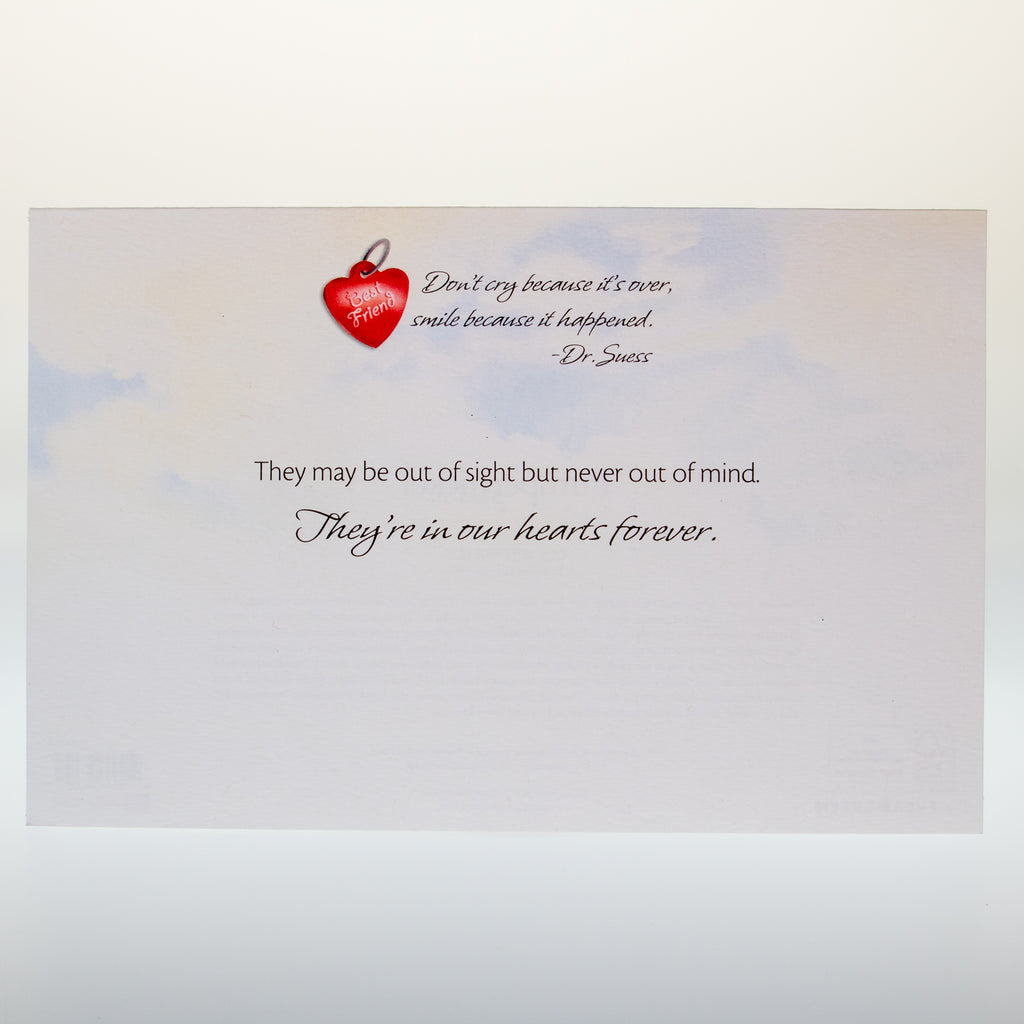 Our Best Friends Sympathy Card - BinkyBunny.com House Rabbit Store