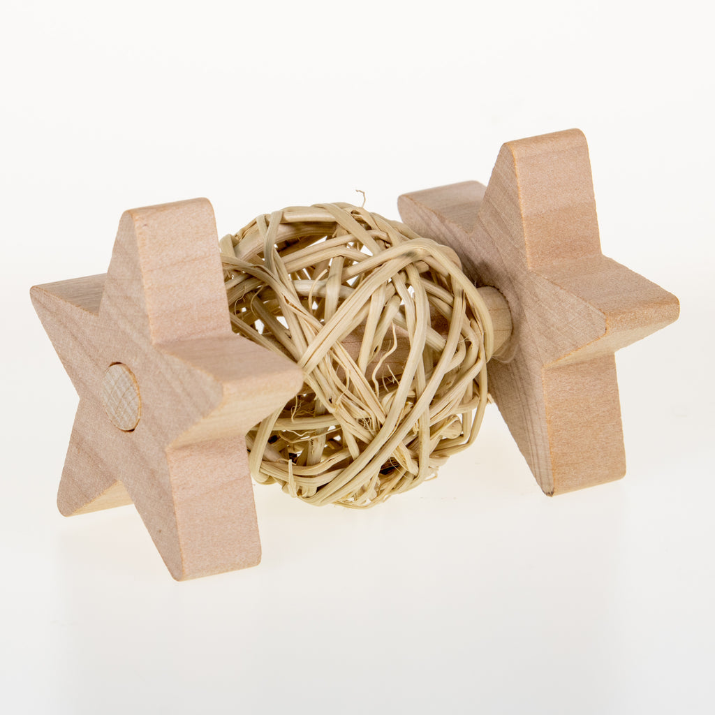 STAR Willow Ball Rattle - BinkyBunny.com House Rabbit Store