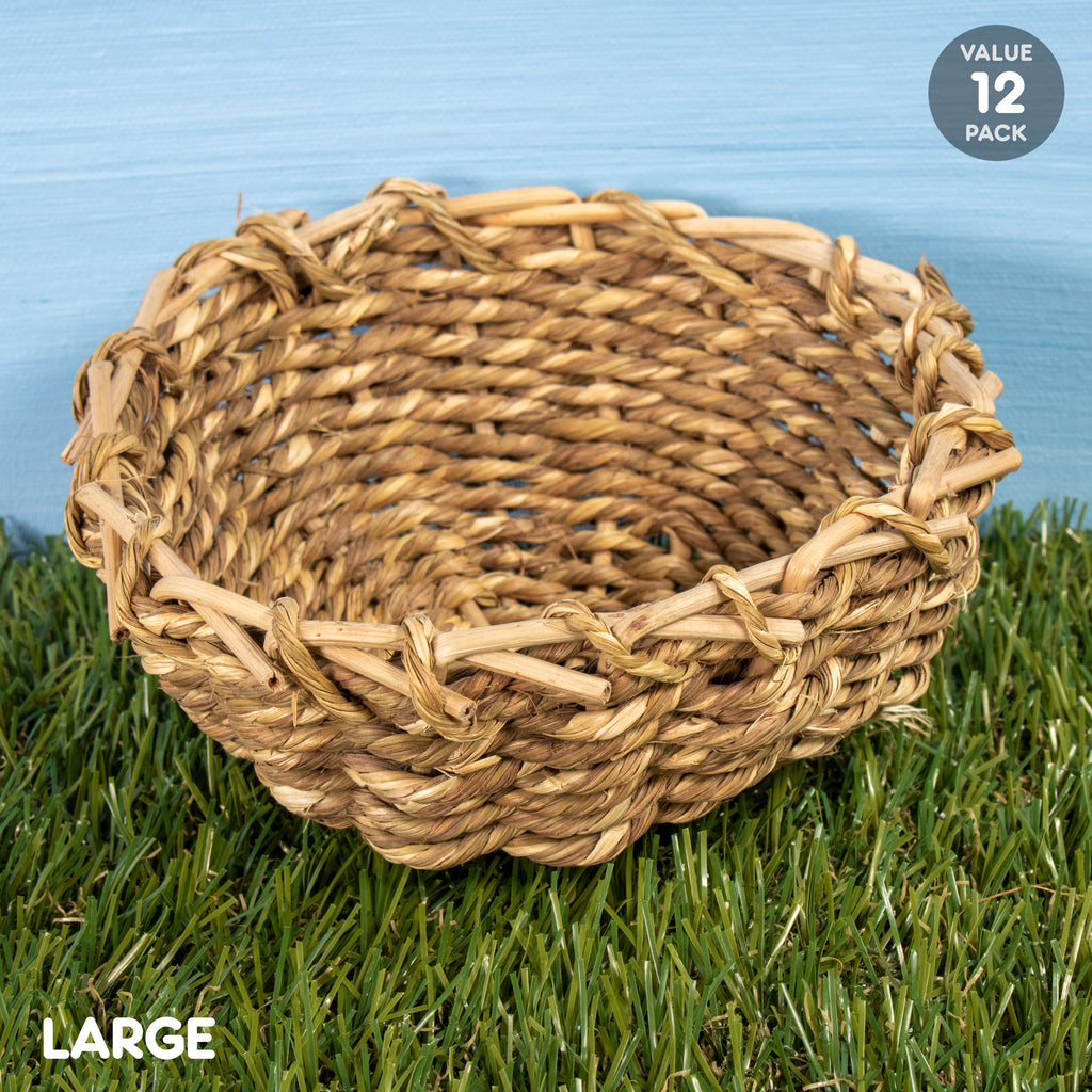 "Sea Grass Bowl LARGE - 12 PACK [6""] - BinkyBunny.com House Rabbit Store"