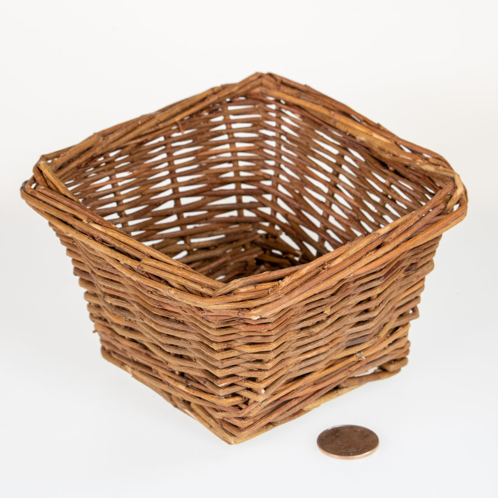 "Square Basket SMALL [5""] - BinkyBunny.com House Rabbit Store"