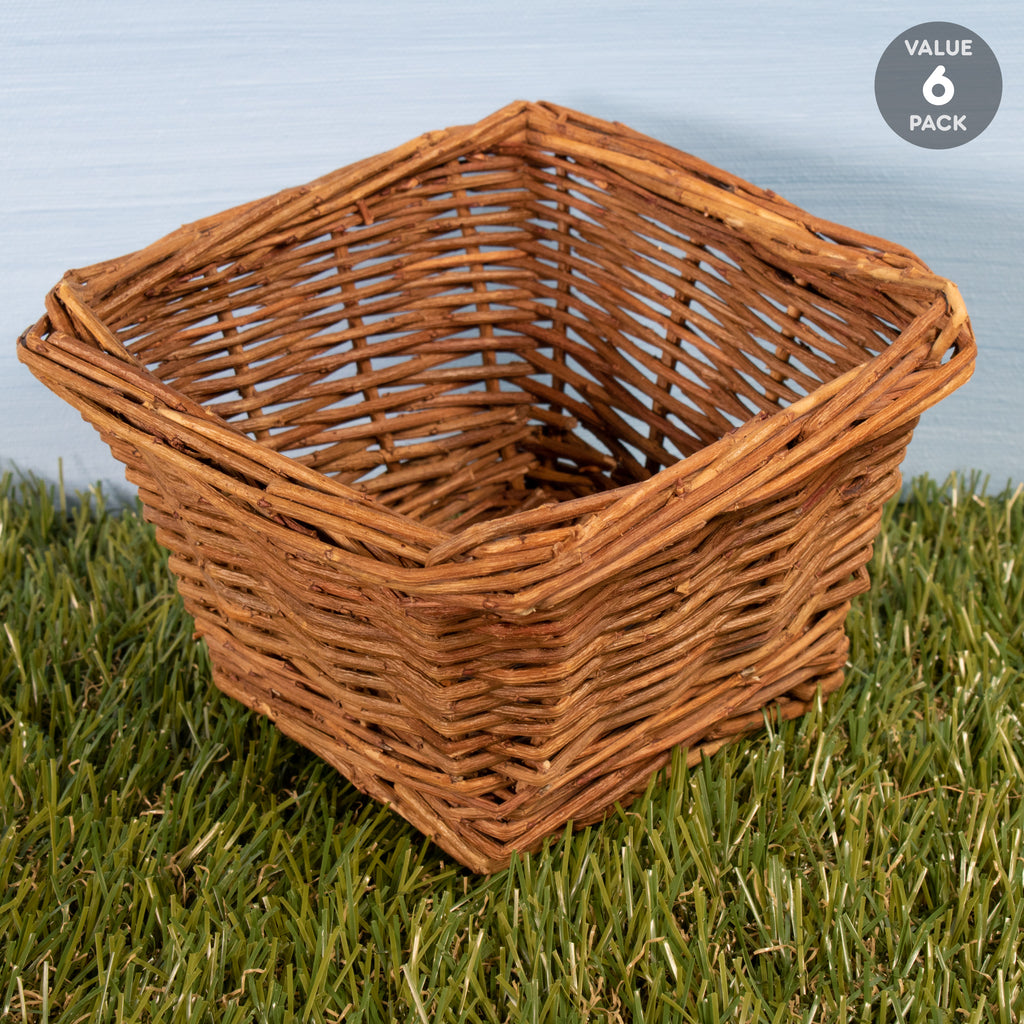 "Square Basket SMALL - 6 PACK [5""] - BinkyBunny.com House Rabbit Store"