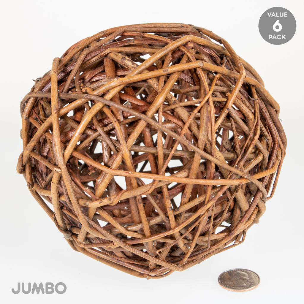 Willow Ball JUMBO - 6 PACK - BinkyBunny.com House Rabbit Store