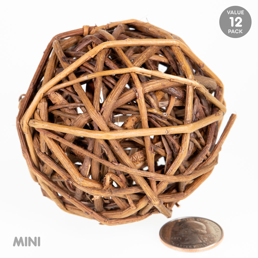 Willow Ball MINI - 12 PACK - BinkyBunny.com House Rabbit Store
