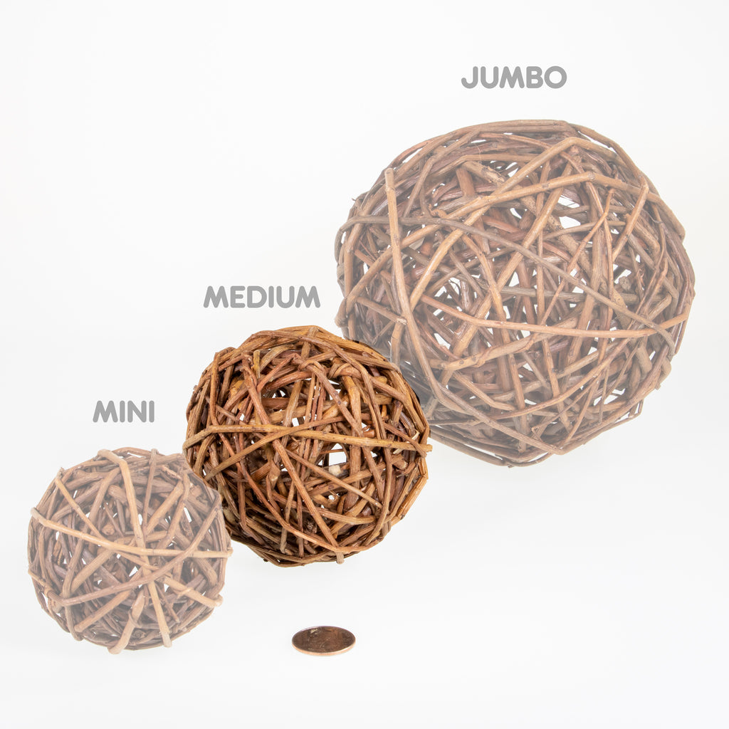 Willow Ball MEDIUM - 12 PACK - BinkyBunny.com House Rabbit Store