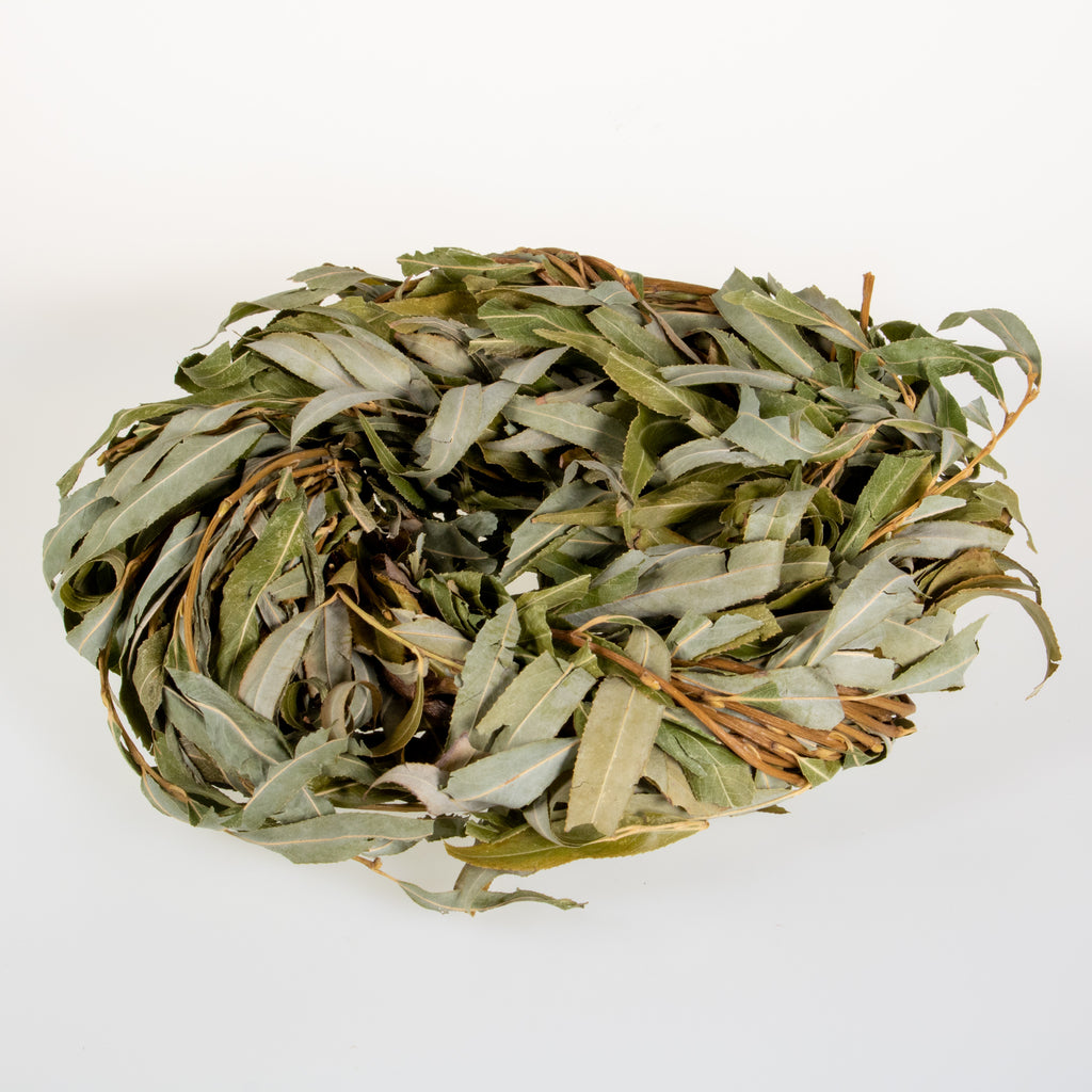 Willow Wreath with Foliage - BinkyBunny.com House Rabbit Store