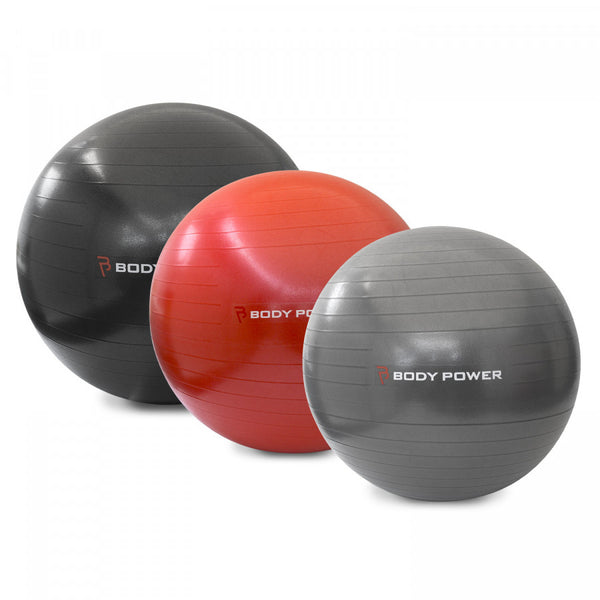 Body Power Gym Ball With Pump (300Kg Burst Resistant) Choose from 3 sizes - GymCrib
