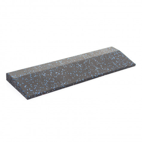 Body Power 30mm Floor Tile Ramp Edge x1 (500mm length) - Black with Blue Speckle - GymCrib