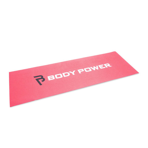 Body Power Double sided Yoga Mat - Red and Black - GymCrib