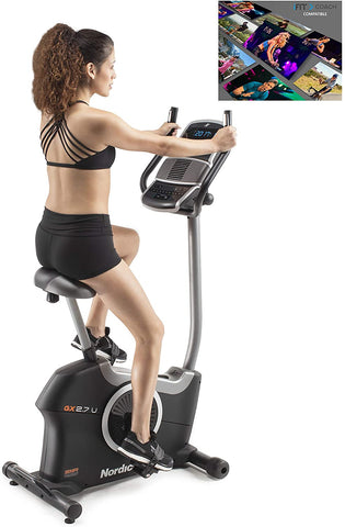 NordicTrack GX2.7U Cycle with Tablet Holder (12 Month iFIT Subscription Included) - GymCrib