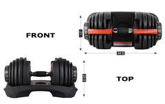 Adjustable 2-24kg Dumbbell Set (Single/Pair) - GymCrib