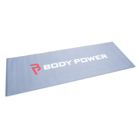 Body Power Double sided Yoga Mat - Grey and Black - GymCrib