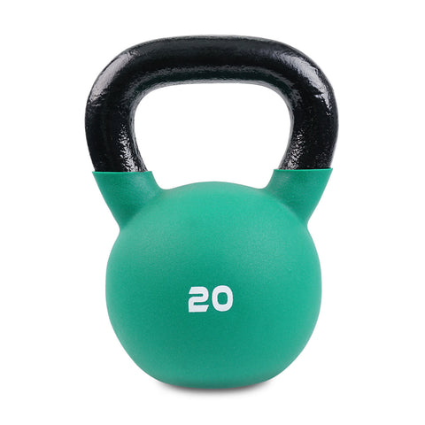 Body Power Neoprene Covered Kettlebell (Choose from 8 Weights) - GymCrib