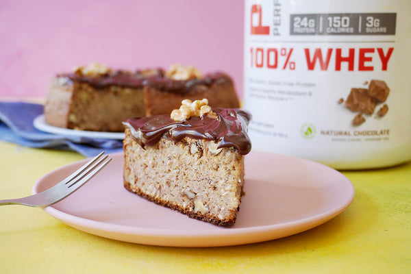BANANA CAKE WITH CHOCOLATE AND WALNUTS