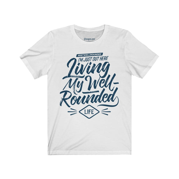 Unisex Well-Rounded Jersey Short Sleeve Tee-White