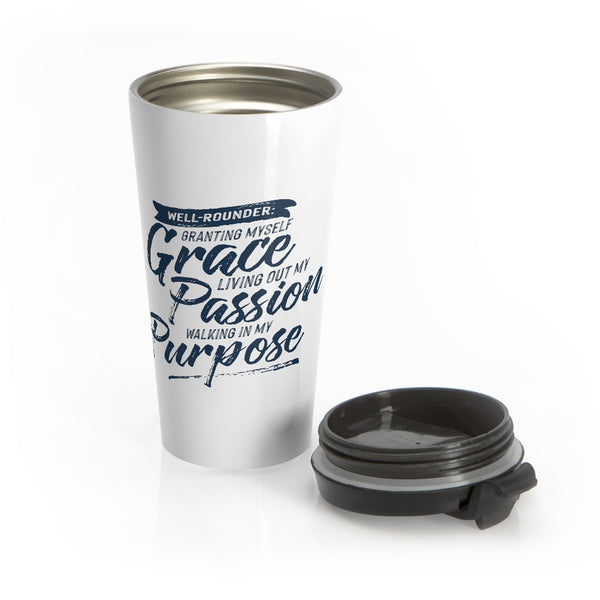 Stainless Steel Well-Rounder Travel Mug