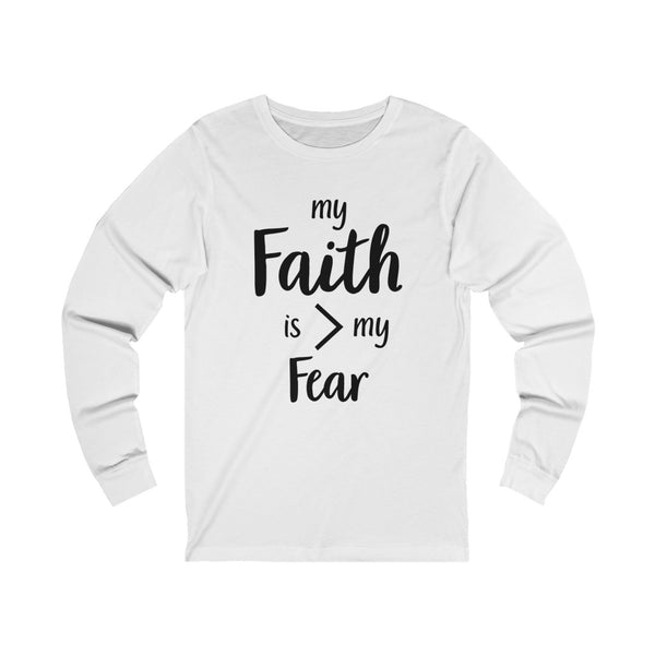 Unisex Faith Jersey Long Sleeve Tee