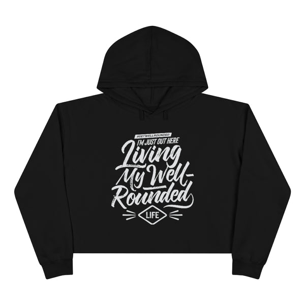 Crop Well-Rounded Hoodie-Dark